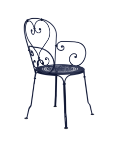 Fermob 1900 | Gartenstuhl mit Armlehne-Abyssblau