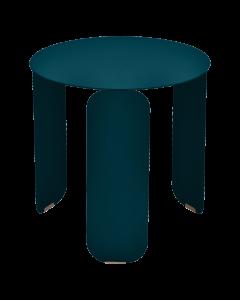 Fermob BEBOP Niedriger Tisch Ø45cm, Acapulcoblau