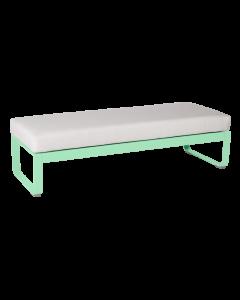 Fermob Bellevie 2-Sitzer-Polsterhocker-Opalgrün MK-Grauweiß 81