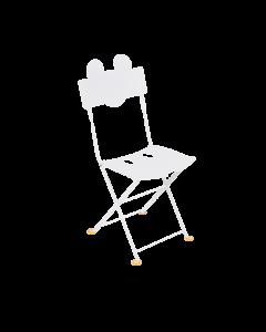 Fermob Mickey Mouse Kinderstuhl Bistro Baumwollweiß