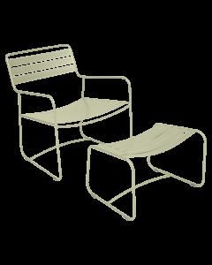 Lounger - SURPRISING (Tiefer Sessel mit Fußablage), Lindgrün
