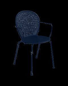 Fermob Lorette | Stuhl mit Armlehne-Abyssblau MK