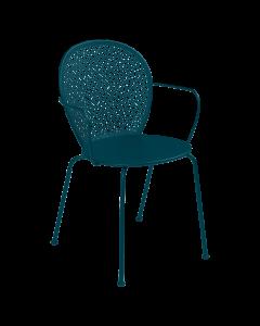 Fermob Lorette | Stuhl mit Armlehne-Acapulcoblau MK