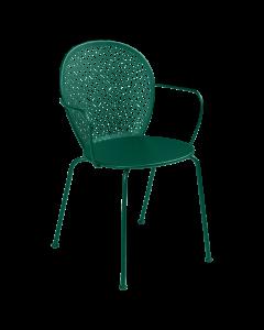 Fermob Lorette | Stuhl mit Armlehne-Zederngrün MK