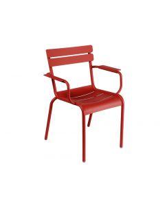 Stapelbarer Stuhl mit Armlehne - LUXEMBOURG, Chili