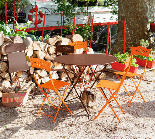 smzzz Gartentisch StühleBistro Tisch, rund,mit 2 Stühlen
