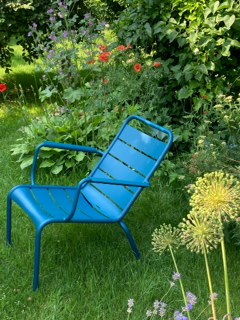 Luxembourg tiefer Lounger Acapulcoblau